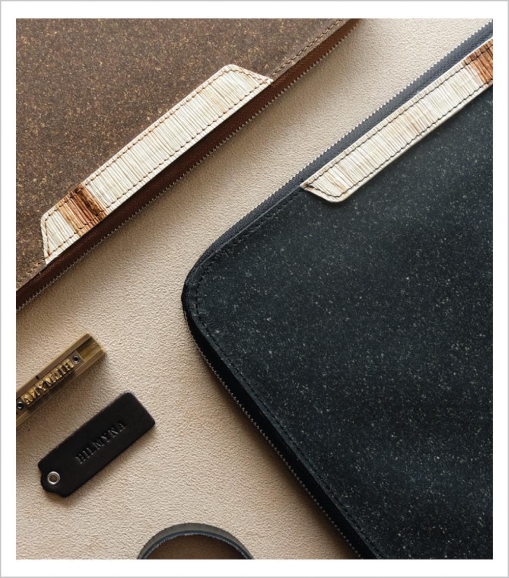 แฟ้มปกหนัง กระเป๋าเอกสาร หนัง หนังรีไซเคิล สินค้าพรีเมี่ยมรักโลก - padfolio blend-our project